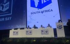 The IEC CEO Sy Mamabolo said the commission was ready for Wednesday's polls. Picture: Clement Manyathela/EWN
