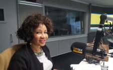 African National Congress presidential hopeful Lindiwe Sisulu during an interview with 702's Eusebius McKaiser on 26 October 2017. Picture: Cape Talk