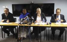 Deputy Chairperson of the DA's Federal Council, Thomas Walters, DA National Spokesperson, Refiloe Nt'sekhe, Deputy Chairperson of the DA's Federal Council, Natasha Mazonne and Chairperson of the Federal Executive, James Selfe brief the media on the Patricia de Lille matter. Picture: Cindy Archillies/EWN