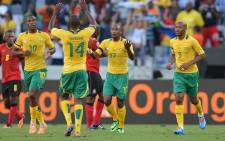 FILE: Bafana Bafana's Hlompho Kekana celebrates after scoring against Mozambique in the CHAN 2014 tournament on 11 January 2014. Picture: Facebook.com