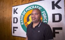 FILE: Newly elected Beaufort West Mayor Noel Constable stands in front of a party banner in his Beaufort West office on 5 July 2016. Picture: EWN.