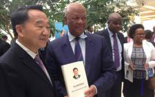 Minister Jeff Radebe & China's Minister of State Information, Jiang Jiangou, at China-Africa media summit. Picture: Gaye Davis/EWN.