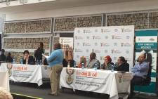 Government officials and various stakeholders hosting an Imbizo on women and child abuse in Khayelitsha. Picture: Ilze-Marie Le Roux/EWN.