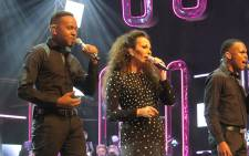 Jennifer Rush performs Power of Love with Idols Top 9 at Pretoria State Theatre.  Picture:  Louise McAuliffe/EWN