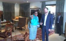 Prince Harry met Graca Machel on 03 December 2015. Picture: Mia Lindeque/EWN.
