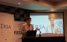 The executive director of Economic Research Southern Africa, Raenette Taljaard. Picture: @econrsa/Twitter.