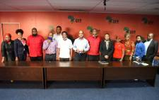 EFF representatives, led by party leader Julius Malema, met with a delegation from Unilever on 10 September 2020 following demonstrations over a racist ad for TRESemme hair products that appeared on the Clicks website. Picture: @EFFSouthAfrica/EWN