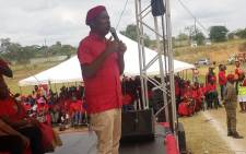 EFF leader Julius Malema addresses supporters at a rally in Seshego. Picture: EFF