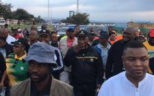 President Cyril Ramaphosa walked with Soweto residents as part of his health initiative on 10 March 2018. Picture: Pelane Phakgadi/EWN