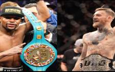 Floyd Mayweather and Conor McGregor fight on August 26 in Las Vegas. Picture: screengrab/CNN