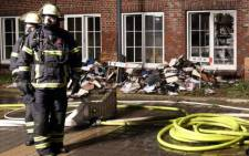 Germany Hamburg newspaper fire bombed as retaliation to posting 'Charlie Hebdo' cartoons. Picture: Twitter @Hamburgdave.