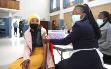 Some of the ECD practitioners and Sassa officials getting vaccinated at a vaccination site. Image: Department of Social Development/Twitter