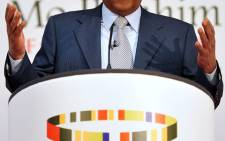Sudan-born telecoms tycoon Mo Ibrahim at the launch of the 2013 Ibrahim Index of African Governance. Picture: AFP