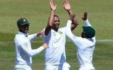 Proteas celebrate during a test match against vs Australia. Picture: @OfficialCSA.