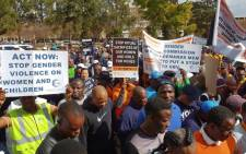 A large crowd gathered in Pretoria on Tuesday for the 100 Men March. Picture: Louise McAuliffe/EWN