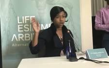 Founder of the Precious Angels NGO, Ethel Ncube, at the Life Esidimeni arbitrtaion hearings. Picture: Masego Rahlaga/EWN