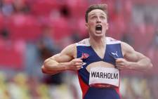 Norway's Karsten Warholm won the Olympic 400m hurdles title in a new world record time on 3 August 2021. Picture: @Olympics/Twitter