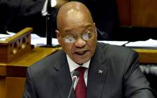 President Jacob Zuma delivering his State of the Nation Address on 11 February 2016. Picture: GCIS.