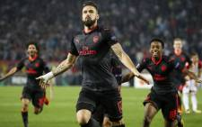 Arsenal forward Olivier Giroud celebrates a goal. Picture: @EuropaLeague/Twitter