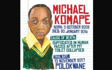 FILE: Michael Komape died after falling into a pit toilet at school in 2014. Picture: Twitter/@Corruption_SA