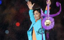 US musician Prince performing during half-time at Super Bowl XLI at Dolphin Stadium in Miami on 4 February 2007. Picture: AFP.