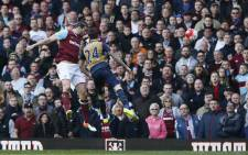 The moment Andy Carroll completed his hat-trick and gave West Ham turnaround on 09 April, 2016. Picture: Twitter @whufc_official.