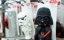 "FILE: The Merch Awakens: 'Star Wars' blitz before film opens""Toys for pets are for sale at Petco in Los Angeles on November 2, 2015. Picture: AFP"