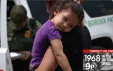 A screengrab of an unaccompanied immigrant child arriving in the United States.