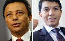Marc Ravalomanana  (L) and Andry Rajoelina. Picture: AFP