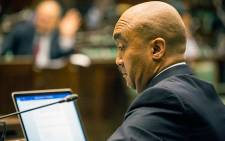 NPA director Shaun Abrahams takes questions from MPs about the recent charges against Minister of Finance Pravin Gordhan. Picture: Anthony Molyneaux/EWN