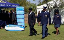Police Minister Bheki Cele at the at Union Buildings for the South African Police Service's National Commemoration Day. Picture: Twitter/ @SAPoliceService