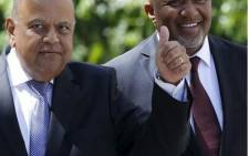 Finance Minister Pravin Gordhan with Deputy Finance Minister Mcebisi Jonas. Picture: Supplied