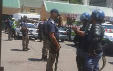 FILE: Metro police at the Grand Parade in Cape Town. Picture: Adela Gertse/iWitness.