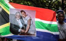 Shepherd Bushiri's supporters outside court. Picture: Abigail Javier/EWN.