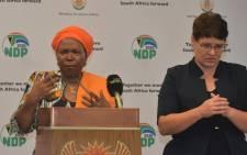 Cooperative Governance Minister Nkosazana Dlamini-Zuma. Picture: @DlaminiZuma/Twitter.