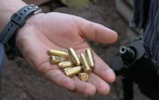 Bullets found during a police raid in Manenberg. Picture: Renee de Villiers/EWN
