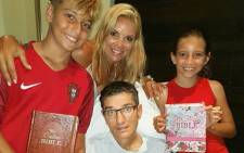 Joost van der Westhuizen, Amor Vittone and their children Jordan and Kylie. Picture: Facebook.com.