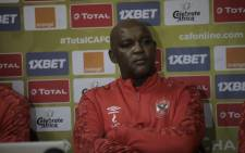 Al Ahly coach Pitso Mosimane. Picture: Al Ahly/Twitter.
