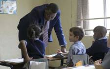 Gauteng Education MEC Panyaza Lesufi visits the Curro Private School in Roodeplaat. Picture: Christa Eybers/EWN.