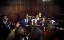 New Finance Minister Malusi Gigaba was swarmed by the media shortly after the swearing-in ceremony of President Jacob Zuma's new Cabinet in Pretoria on 31 March 2017. Picture: Reinart Toerien/EWN