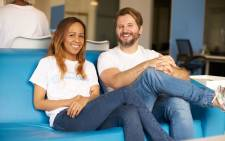 Aisha Pandor and Alen Ribic, her husband and co-founder of SweepSouth. (image credit: https://blog.sweepsouth.com/)