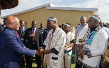 FILE: Former President Jacob Zuma meets AmaXhosa King Mpendulo Sigcawu. Picture: Supplied