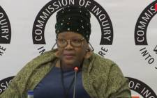 A screengrab of Vytjie Mentor appearing at the state capture commission of inquiry on 29 August 2018.