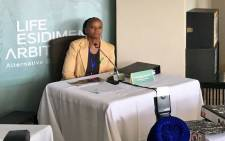 FILE: Christine Nxumalo testifies at the Life Esidimeni arbitration process on 23 October 2017 on the death of her sister at an NGO. Picture: EWN