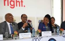 Health Minister Aaron Motsoaledi (L) and UNAIDS Executive Director Michel Sidibé (C) in Khayelitsha on 20 November 2017. Picture: @MichelSidibe.