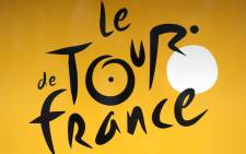 The Tour de France logo pictured on a street of Utrecht in the Netherlands. Picture: AFP.