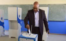 President Jacob Zuma casting his vote in his hometown of Nkandla on 3 August 2016. Picture: GCIS.