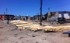 The City of Cape Town is assisting 90 families rebuilding their shacks following a fire. Picture: Siyabonga Sesant/EWN