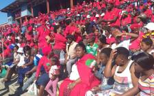 EFF supporters await the arrival of party leader Julius Malema at the Sankopano Alexandra Stadium for the May Day rally on 1 May 2019. Picture: EWN