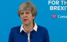 British Prime Minister Theresa May. PIcture: Screengrab/CNN